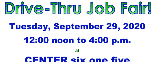 Elkhart Drive-thru Job Fair – September 29